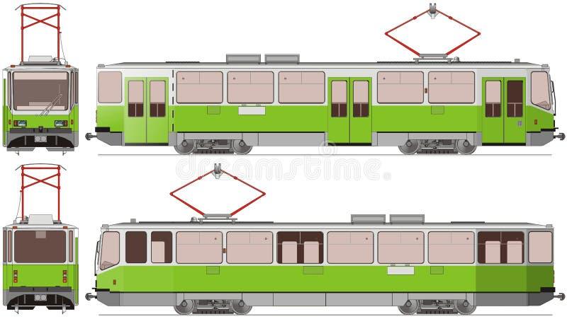 трам города иллюстрация штока
