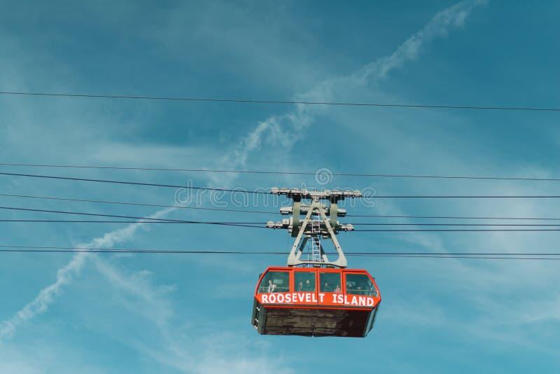 Трам острова Рузвельта стоковая фотография rf