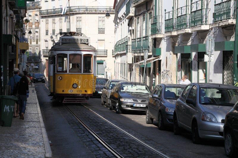 трам улицы lisbon стоковые фотографии rf