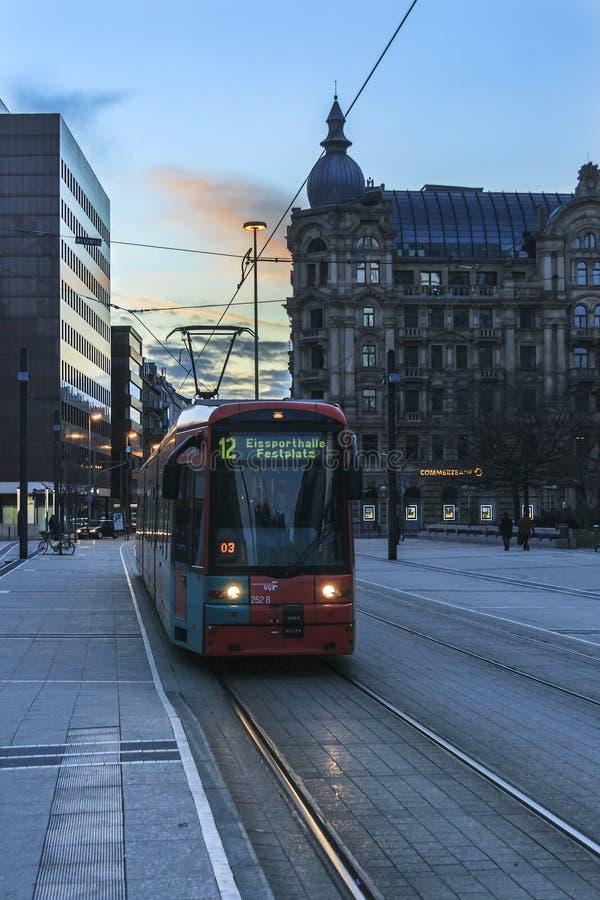 Трам Франкфурта стоковые фотографии rf