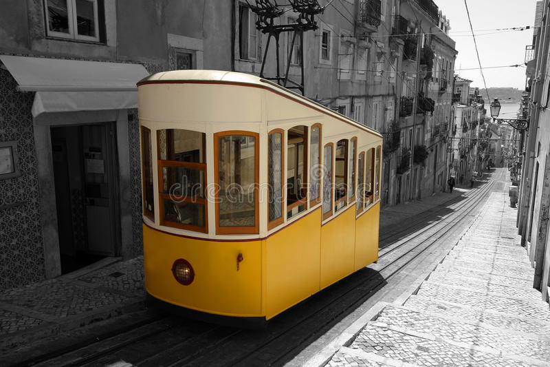 трам lisbon стоковая фотография rf