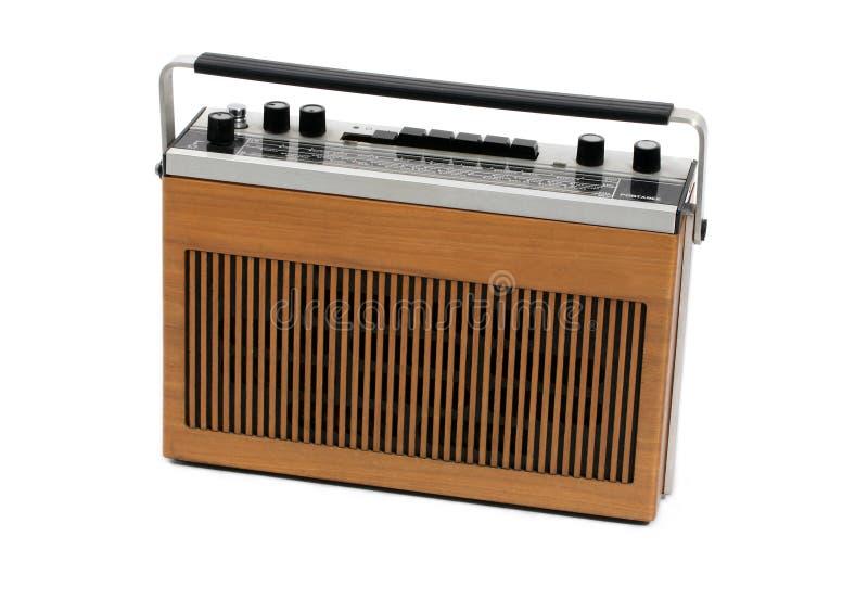 транзистор портативного радио 60s 70s ретро стоковая фотография rf