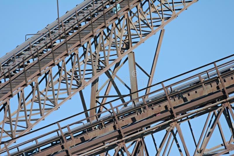 транспортеры промышленные стоковое изображение rf