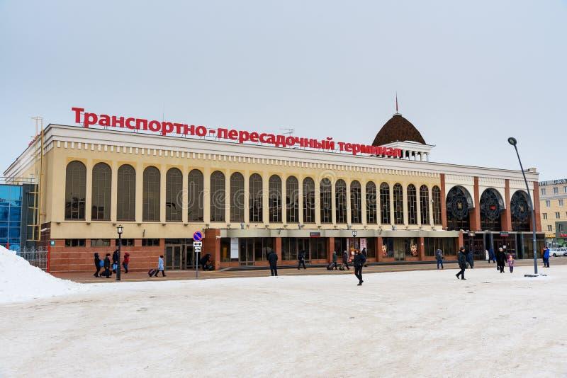 Транспортируйте стержень перехода здания железнодорожного вокзала Kazan-1 в Казани Татарстан Россия стоковые изображения rf