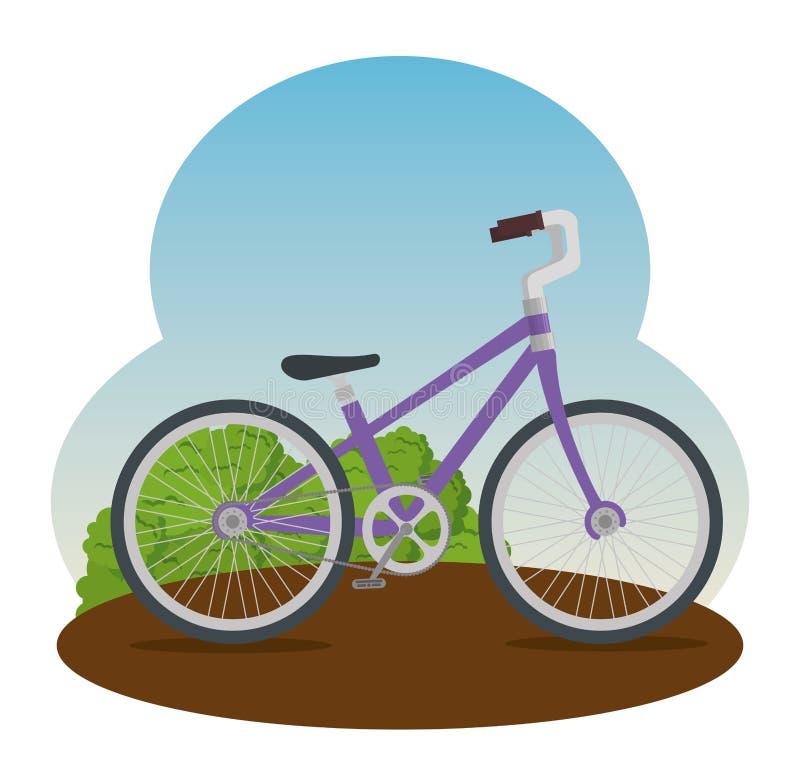 Транспортное средство велосипеда с лепестком и местом иллюстрация вектора