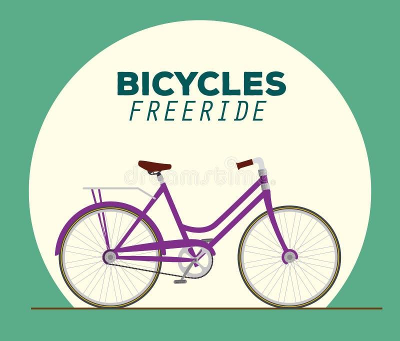Транспортное средство дизайна велосипеда к freeride иллюстрация вектора
