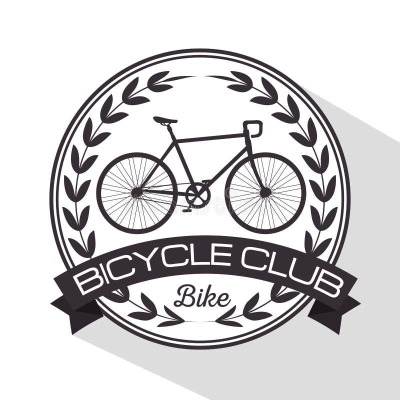 Транспортное средство клуба велосипеда эмблемы иллюстрация вектора