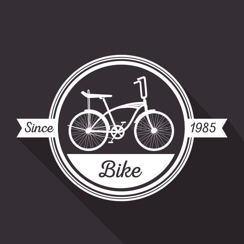 Транспортное средство магазина велосипеда эмблемы иллюстрация вектора