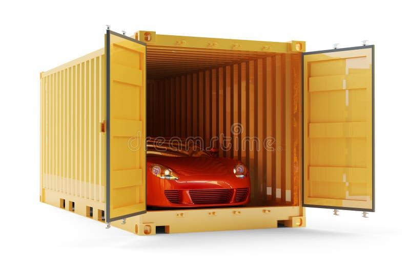 Транспорт перевозки, пересылка и концепция поставки иллюстрация вектора