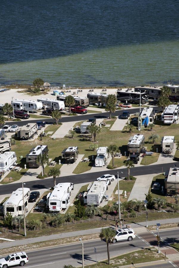 Транспорт для отдыха на портовом районе Флориде США стоковое фото rf