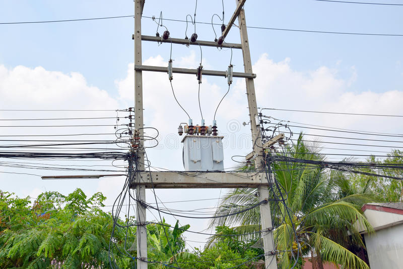 Трансформаторы electricity_3 стоковое изображение