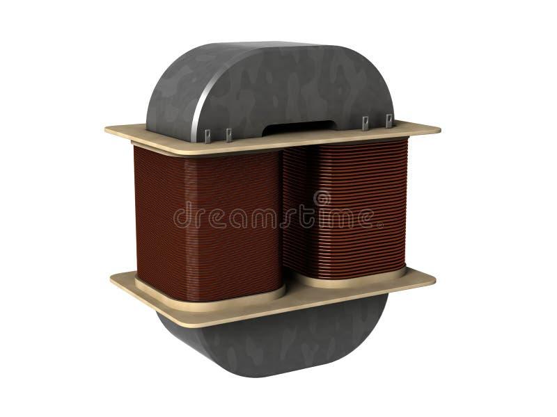 трансформатор электричества иллюстрация вектора