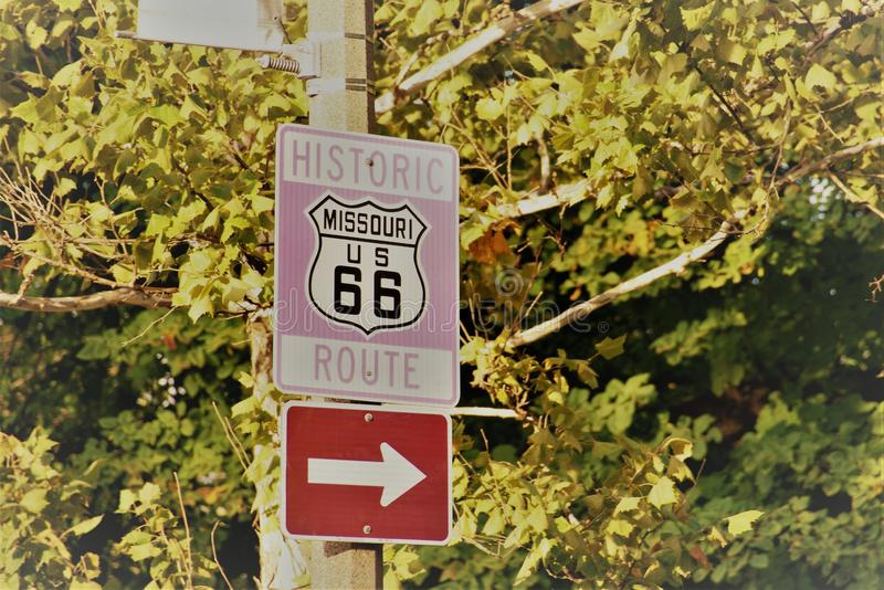 Трасса 66 Миссури стоковая фотография rf