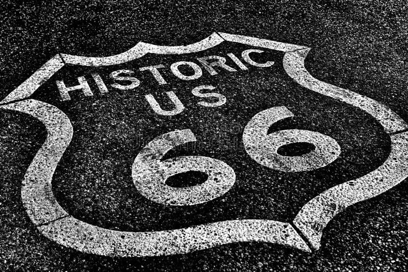 Трасса 66 дороги государственной автострады исторической стоковая фотография rf