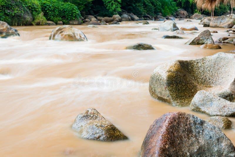 Трасса сплавлять Whitewater в Mae Taeng на Чиангмае, Таиланде стоковое фото