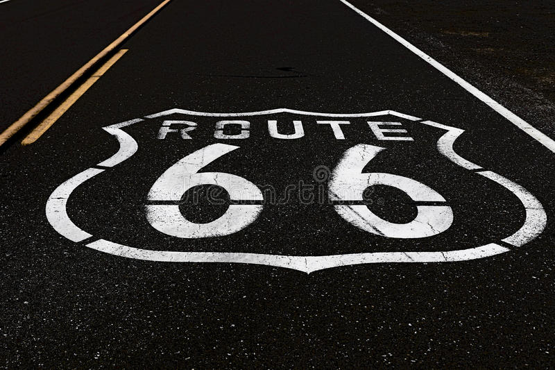 трасса 66 стоковая фотография rf
