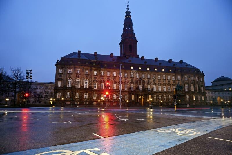 Трасса Bike в Копенгаген стоковое изображение rf