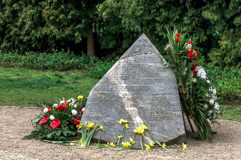 Трассировки еврейского мемориала Варшавы - Anielewicz стоковые изображения rf