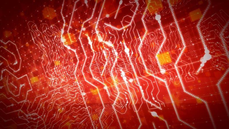 Трассы зигзага в фиолетовом процессоре цепи бесплатная иллюстрация