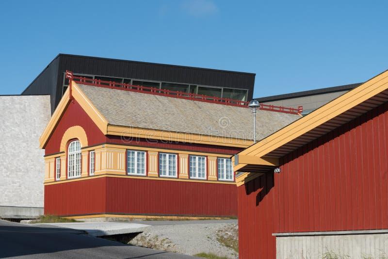 Традиционная архитектура в Nuuk, Гренландии стоковые изображения