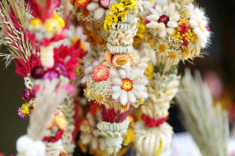 Традиционная ладонь пасхи Lithuanian известная как verbos стоковое изображение