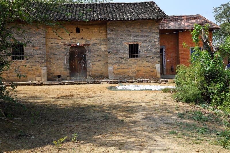 Традиционная жилая структура, деревня стоковая фотография