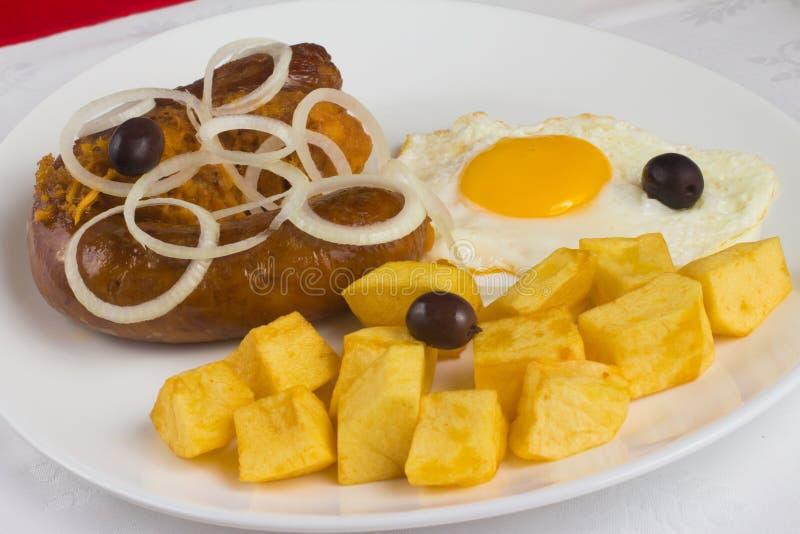 Традиционная португальская сосиска стоковые фото