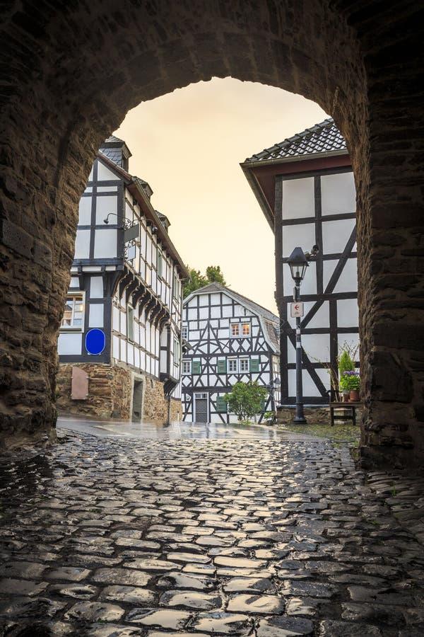 Традиционная прусская стена в архитектуре в Германии стоковые изображения rf