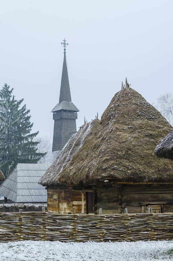 Традиционная румынская деревня стоковое изображение