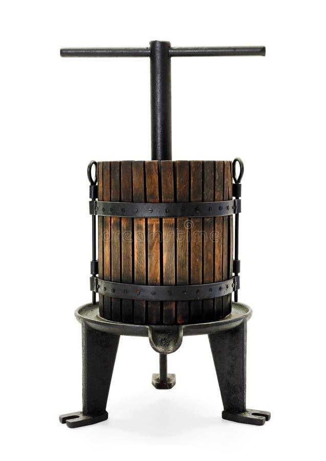 Традиционная ручная виноградина отжимая утварь стоковая фотография