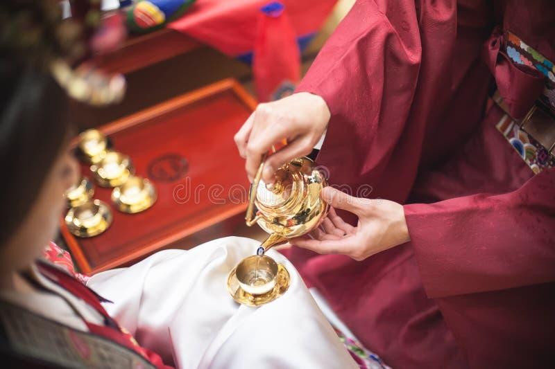 Традиционная свадьба в Корее стоковое фото
