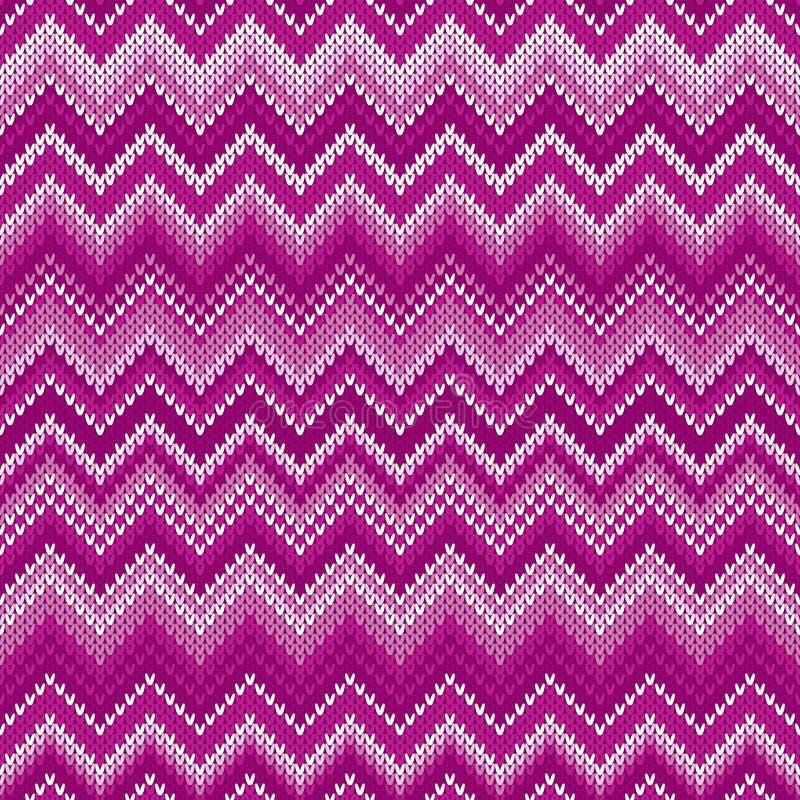 Традиционная справедливая картина конспекта острова связанная Шевроном Безшовный орнамент для вязать дизайна свитера бесплатная иллюстрация