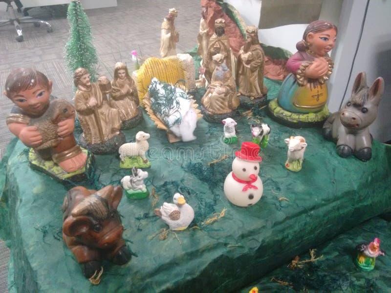 Традиционная сцена рождества стоковое изображение rf