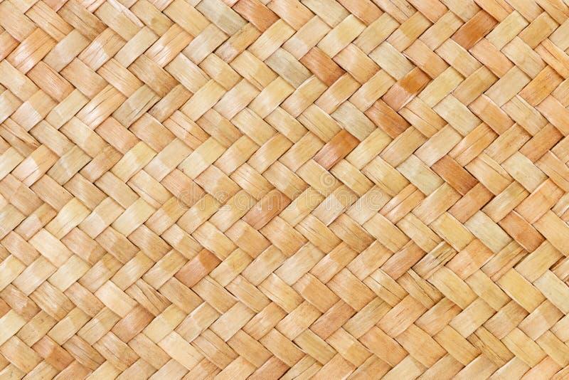 Традиционная тайская предпосылка природы картины стиля поверхности коричневой текстуры weave ремесленничества плетеной для materi стоковые изображения