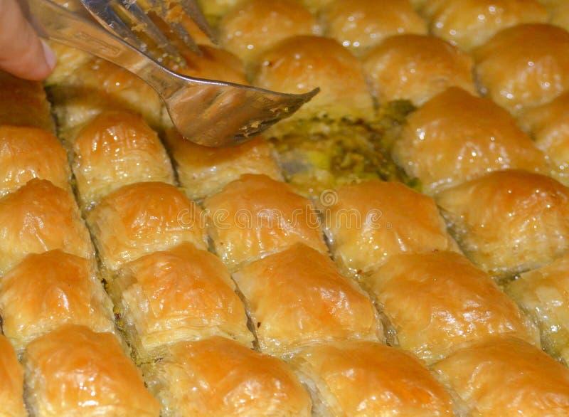Традиционная турецкая бахлава стоковые фото