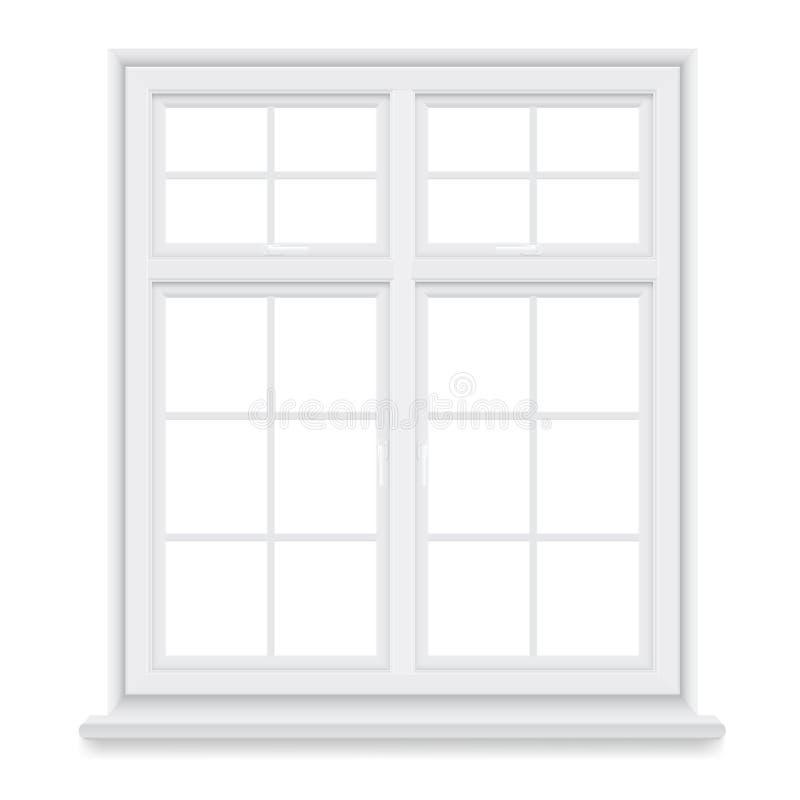 Традиционное белое окно бесплатная иллюстрация