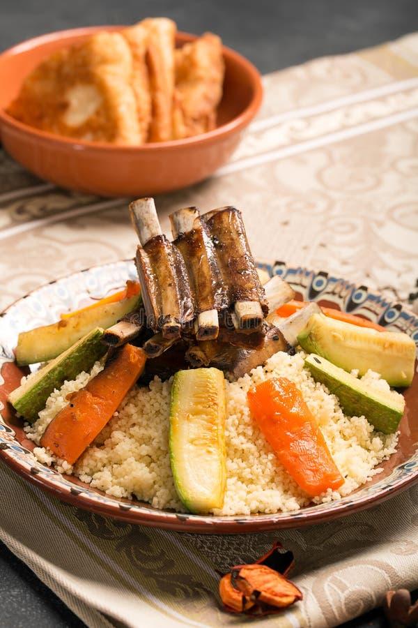 Традиционное блюдо кускус стоковые фото