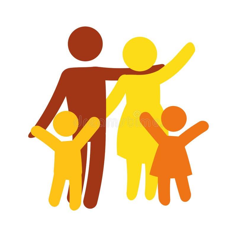 Download Традиционное изображение значка семьи Иллюстрация вектора - иллюстрации насчитывающей люди, lifestyle: 81800587