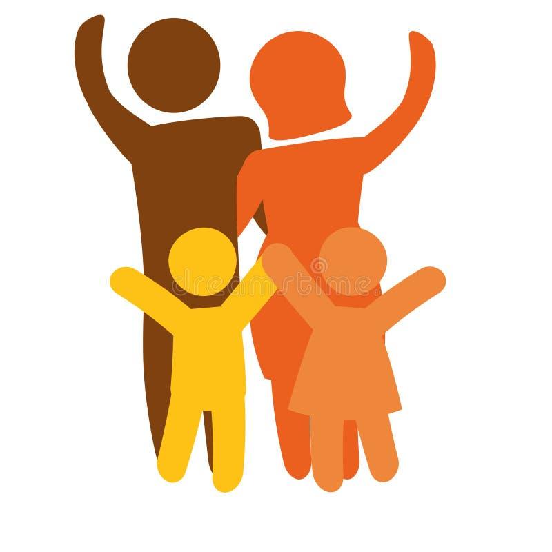 Download Традиционное изображение значка семьи Иллюстрация вектора - иллюстрации насчитывающей outdoors, родители: 81800612