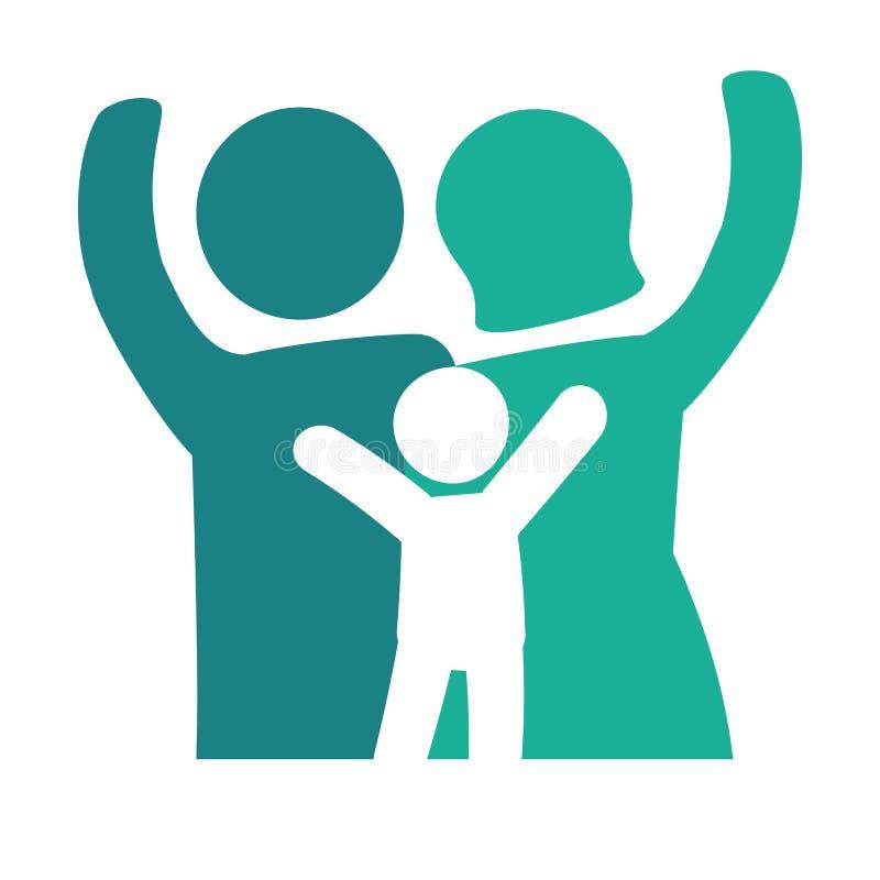 Download Традиционное изображение значка семьи Иллюстрация вектора - иллюстрации насчитывающей малыши, вскользь: 81800622