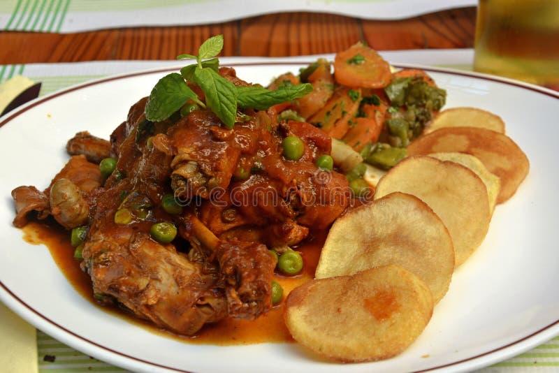 Традиционное мальтийсное тушёное мясо кролика стоковая фотография rf