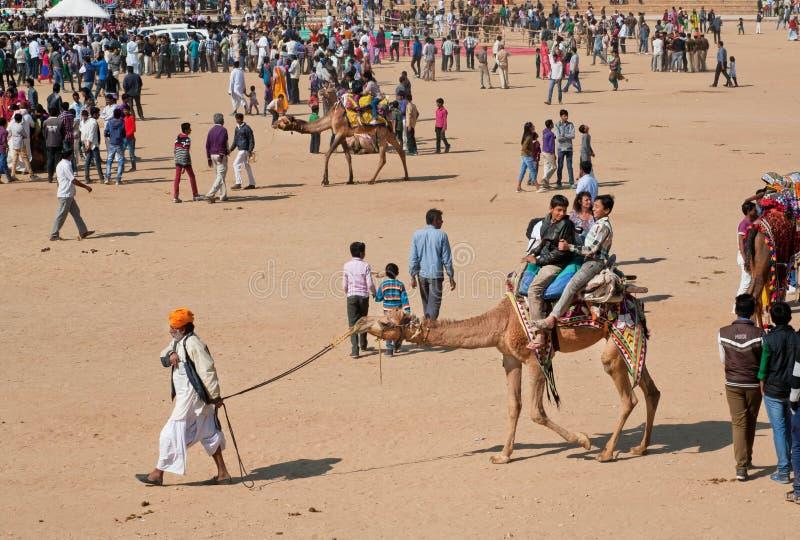 Традиционное сафари пустыни во время сельского фестиваля пустыни стоковое фото