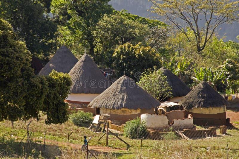 Традиционное село в Южно-Африканская РеспублЍ стоковое изображение rf