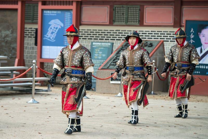 Традиционные боевые искусства пробное представление, 23-ье декабря 2016, Gyeonggi-делают, Сувон-si, Южная Корея стоковые фотографии rf