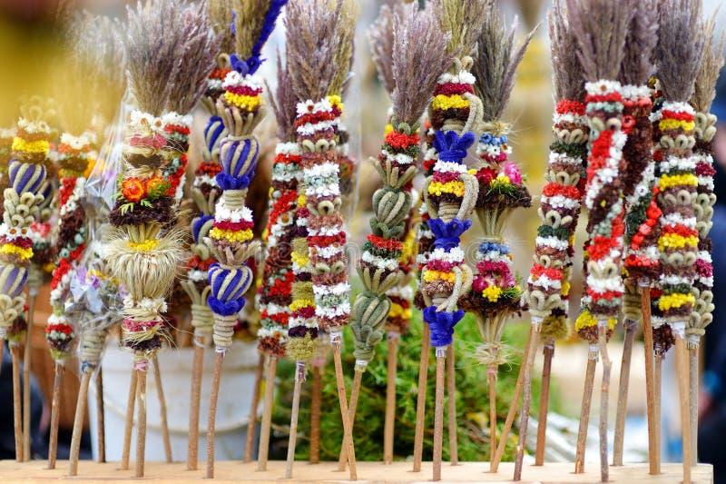 Традиционные букеты ладони пасхи lithuanian стоковая фотография