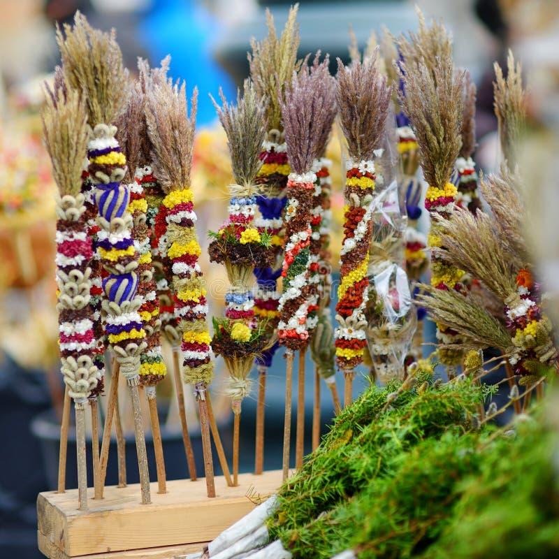 Традиционные букеты ладони пасхи lithuanian стоковые фотографии rf