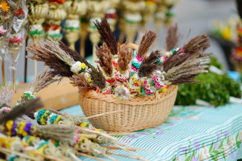 Традиционные букеты ладони пасхи lithuanian стоковое изображение