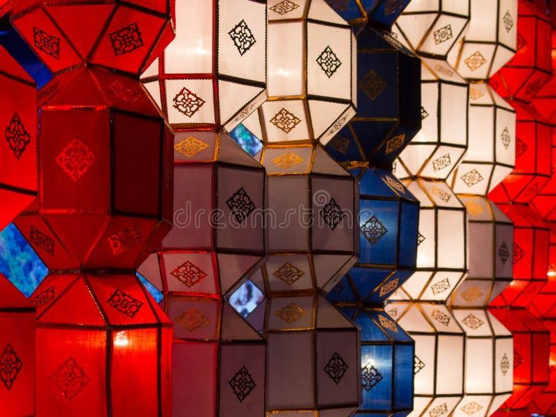 Традиционные декоративные фонарики в Чиангмае, Таиланде стоковые фото