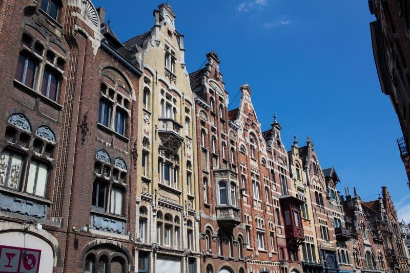 Традиционные здания в Gent стоковое фото rf