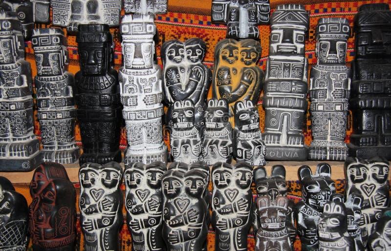 Традиционные диаграммы Aymara ритуальные, рынок ведьм стоковые фотографии rf